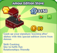 Amour Edition Stove