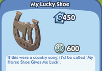 My Lucky Shoe
