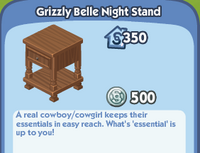 Grizzly Belle Night Stand