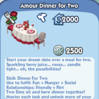 Amour Dinner For Two