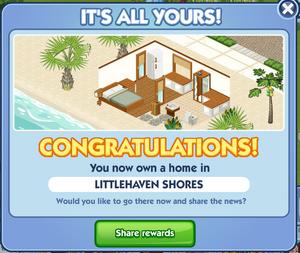 BeachHouse Congrats screen