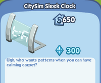 CitySim Sleek Clock