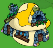 Grove rock hut