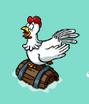 Chicken on a Barrel