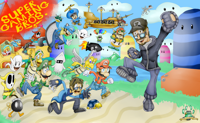 File:The super gaming bros by cwandarts1999-d6kxa98.png