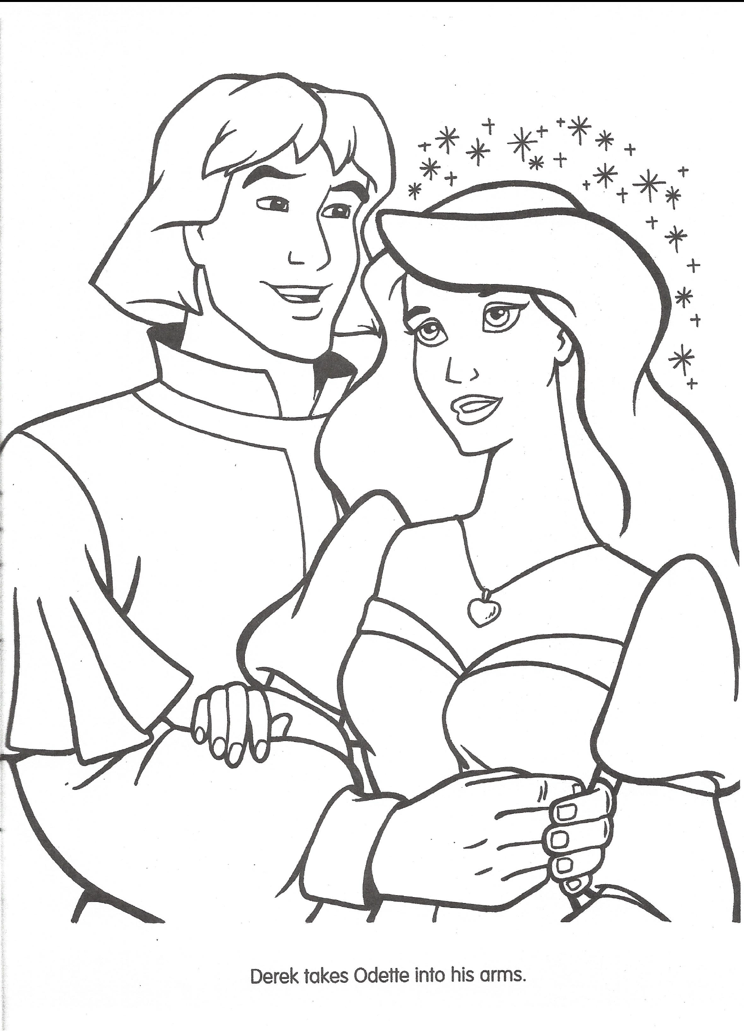 disney swan princess coloring pages - photo#13