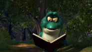 Jean-Bob is reading about plants than can heal him.