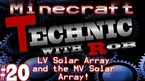Minecraft Technic Part 20 LV Solar Array and the MV Solar Array!