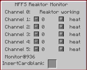 Mffs reactor monitor server gui