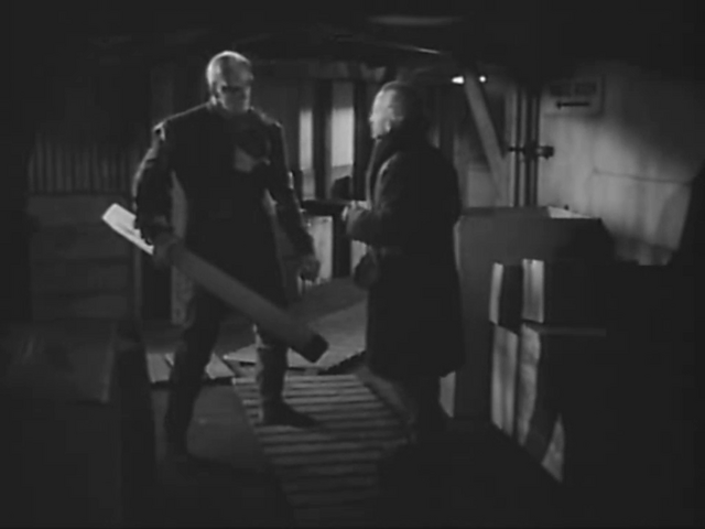 File:Carrington attempts to reason with the Thing - The Thing (1951).png