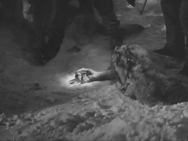 File:The men find the Thing's severed arm - The Thing (1951).png