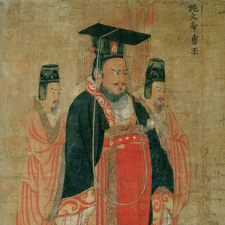Painting by Yan Liben <br /> Tang Dynasty