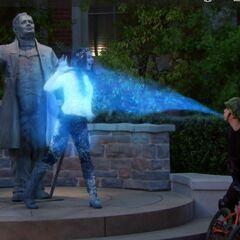 Max freezes Phoebe