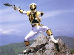 A white mighty morphin