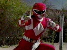A red mighty morphin
