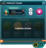Forecast tower panel