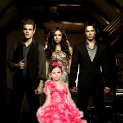 Elizabeth, Stefan, Damon, and Elena