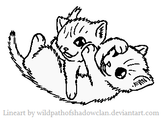 File:Kits playfight lineart by wildpathofshadowclan-d364oh7.png