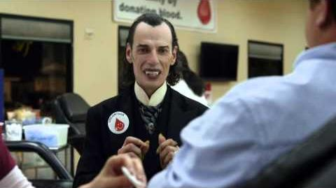 GEICO Dracula Commercial Happier than Dracula Volunteering at a Blood Drive