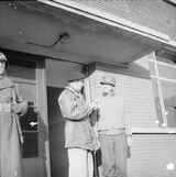 Monty and Hodges, outside Frist Army HQ