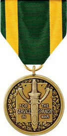 Spanish War Service Medal (full)