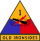 1st Armored Division (detached tab, olive drab border)