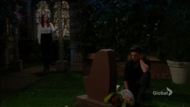 Mariah watches Noah at Cassie's grave