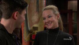 Sharon smiles at Noah