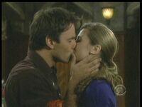 Adam & Heather kiss
