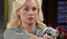 Avery holds a gun on Joe