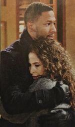 Lily & Jordan hug