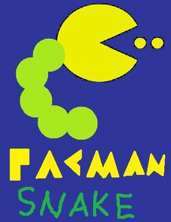 Pacman snake logo