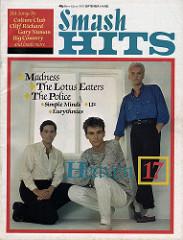 Smash Hits, September 1, 1983 - p.01 H17 cover