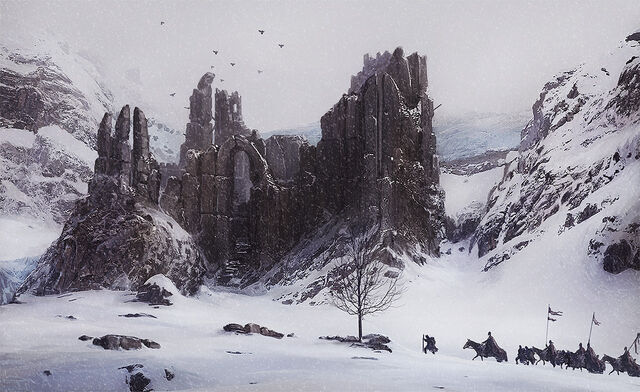 File:1280x783 17315 The old ruin 2d fantasy snow landscape ruins picture image digital art.jpg