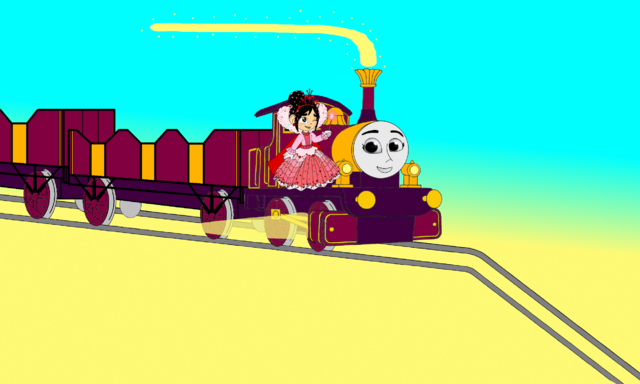 File:Lady & Vanellope go down the Mountain Hill.png
