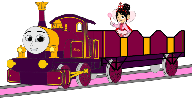 File:Lady with her Open-Topped Carriage & Vanellope travelling on it (Mirrored).png