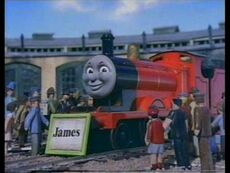 James the red engine nameplate