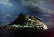 35 Tracy island at night