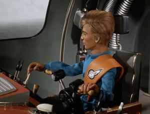 Gordon at the controls