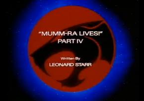 Mumm-Ra Lives - Part IV - Title Card