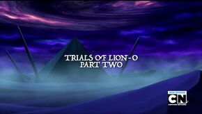 Trials of Lion-O - Part 2 Title Card