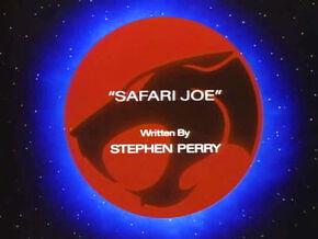 Safari Joe Title Card