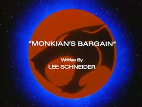 Monkians Bargain Title Card