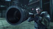 Casey with sniper rifle