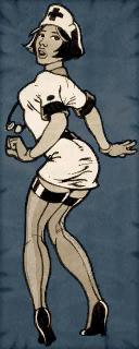 Nurse Cardboard Character