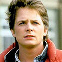 Michael J. Fox as Marty McFly in Back to the Future, 19852
