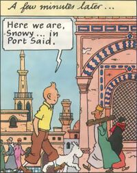 Tintin Port-Said