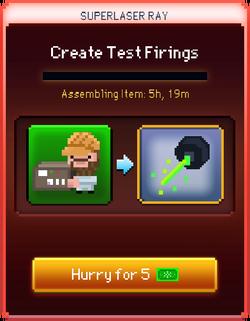 Test Firings start