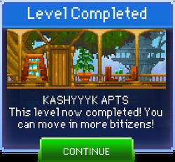 Message Kashyyyk Apts Complete