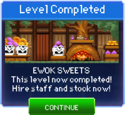 Message Ewok Sweets Complete
